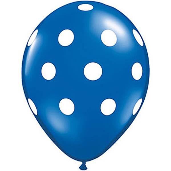 Ballonger 6-pk blå