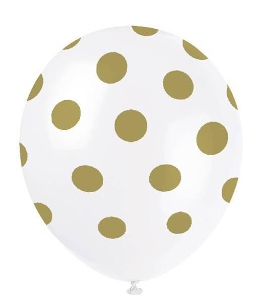 """Ballonger 6-pk gull """"dots"""""""