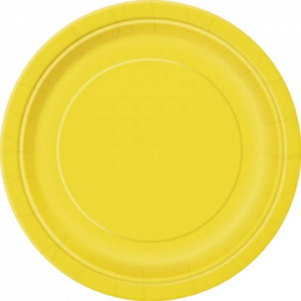 Papptallerken gul 8-pk