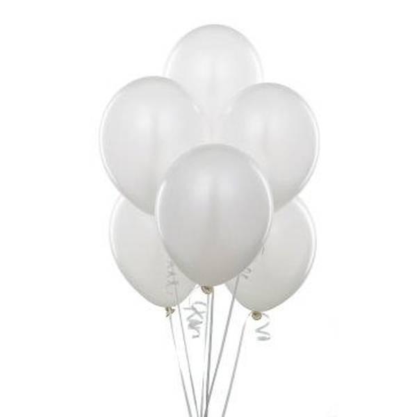 Ballonger 50-pk hvit