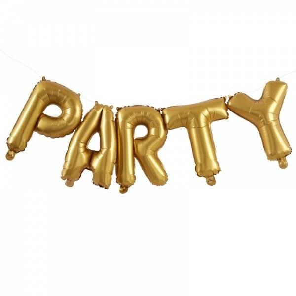 """Ballongbanner """"PARTY"""" gull"""