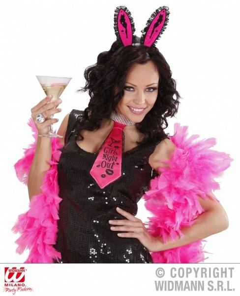 """Girls Night Out"" Bunny, rosa med sort kant"