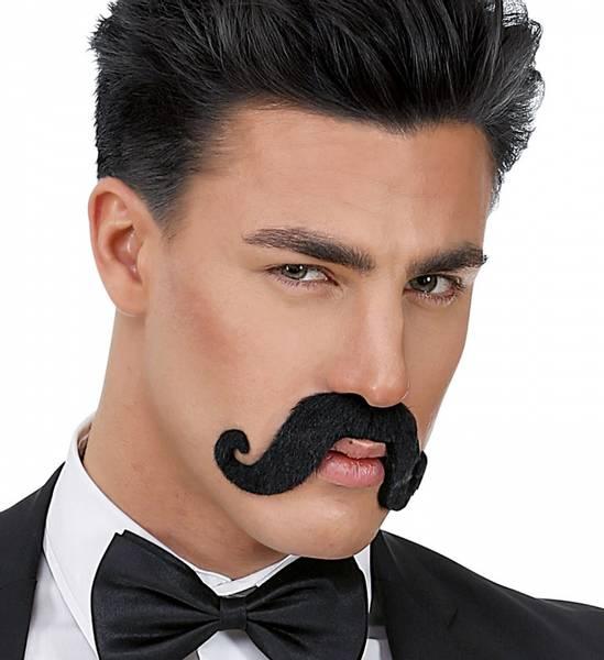 Stor moustache, sort bart