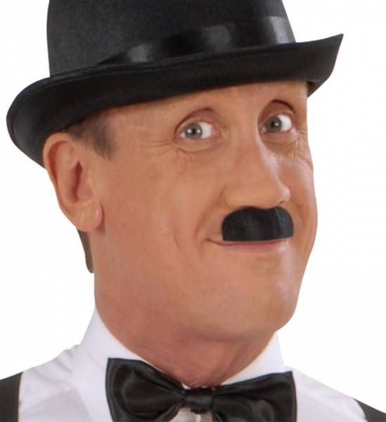 Chaplin Moustache/Bart, sort