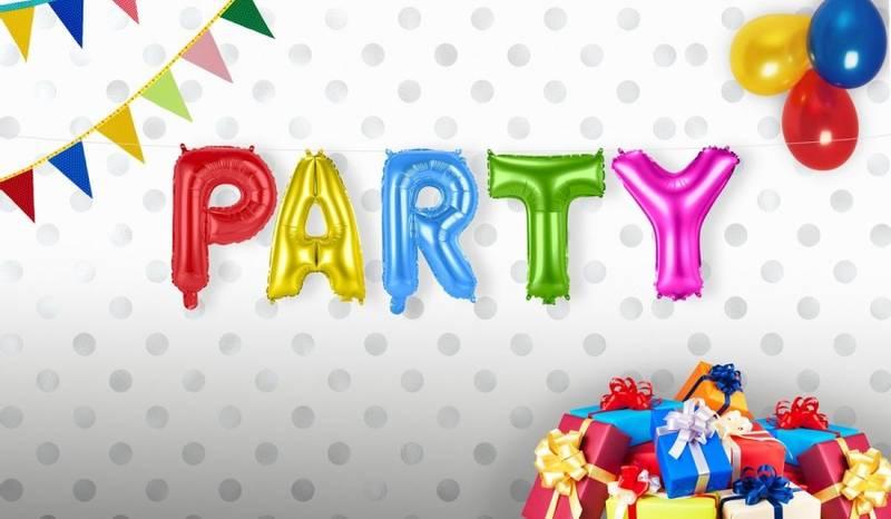 """Ballongbanner """"PARTY"""" ass. farger"""