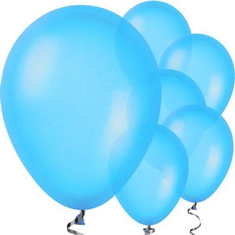 Bilde av Ballonger Blå Metallic Lateks 28cm 10stk