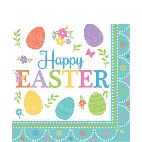 Bilde av Servietter Happy Easter 33cm16stk