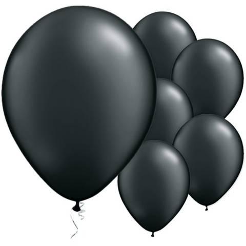 Bilde av Ballonger Onyx Sort Perle 28cm 25stk