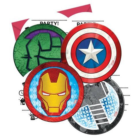 Bilde av Mighty Avengers Invitasjoner 6stk