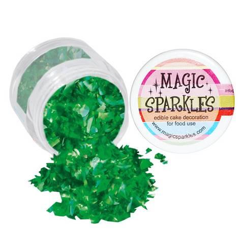 Bilde av  Kakepynt Sukkerstrø Grønn Magic Sparkles