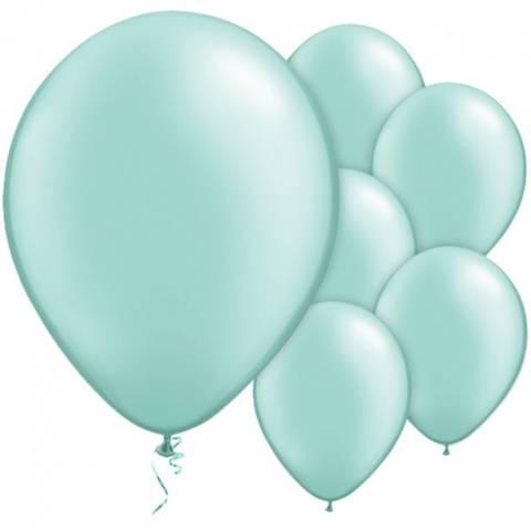 Bilde av Ballong Mint Grønn Perle  Latex 27cm 25stk