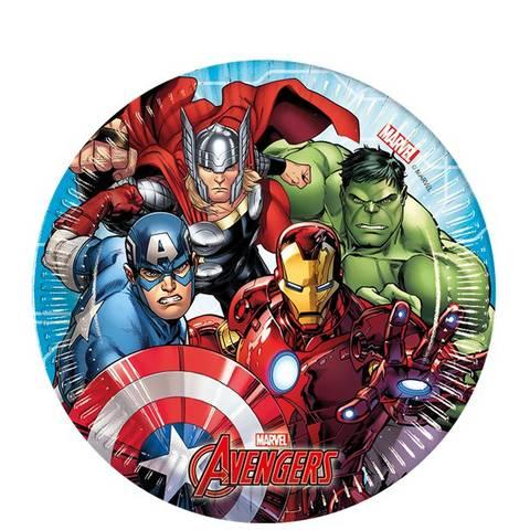 Bilde av Mighty Avengers Papptallerkner 20cm 8stk