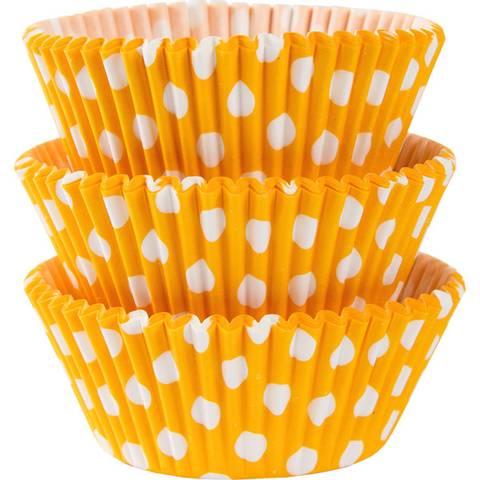 Bilde av Muffinsformer Gule Polka Dot 75stk