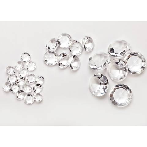 Bilde av Konfetti Diamanter Klar 10mm 70gr.