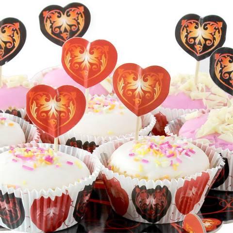 Bilde av Muffinsformer med Hjerte Picks 24stk