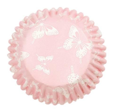 Bilde av Muffinsformer Rosa med Sommerfugler 54stk