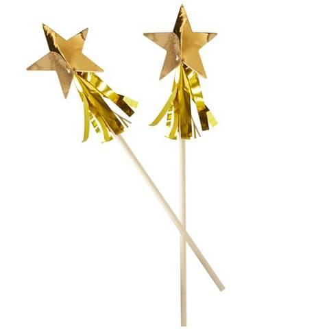 Bilde av Gull Folie Stjerne Tassel Rørepinne 15stk