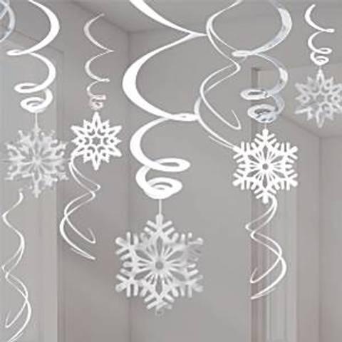 Bilde av Julepynt Snøfnugg Hengende Dekorasjon Svirvel 12stk