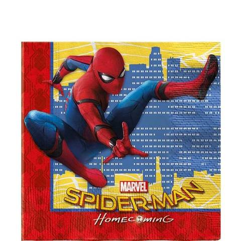 Bilde av Spiderman Homecoming Servietter 33cm 20stk