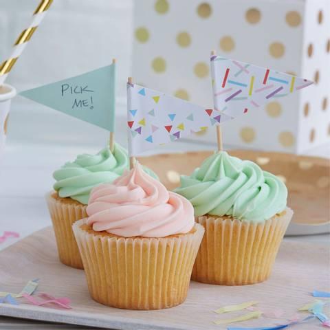 Bilde av Pick & Mix Konfetti Cupcake Picks 10stk