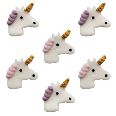 Bilde av Kakpynt Unicorn Sukkertopper 6stk