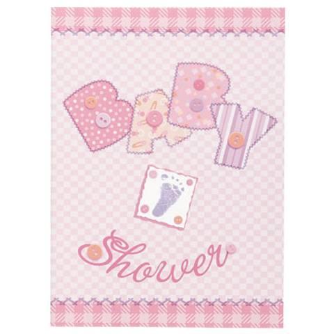 Bilde av Invitasjonskort Rosa Baby Shower 8stk