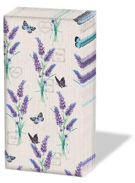Papirlommetørkle Lavendel 10 x 4stk