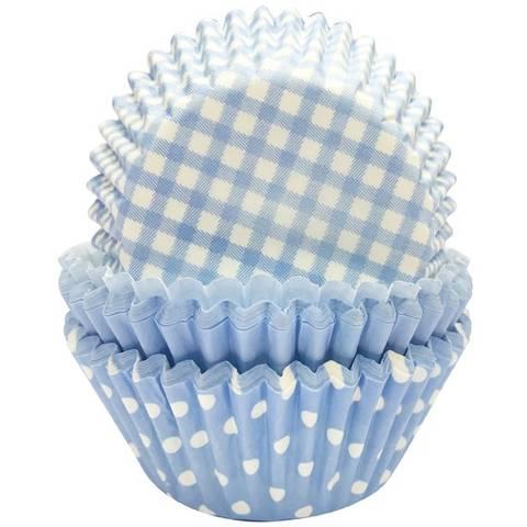 Bilde av Muffinsformer Blå 3 Motiver 75stk