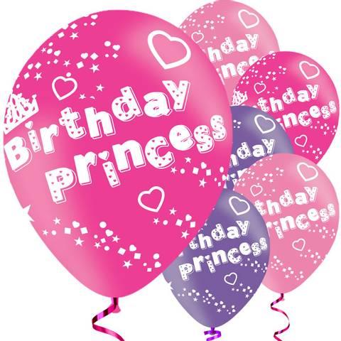Bilde av Birthday Princess Ballonger Latex 27cm 6stk