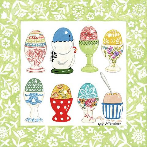 Bilde av Påskeservietter Egg I Eggeglass Lunsj 20stk