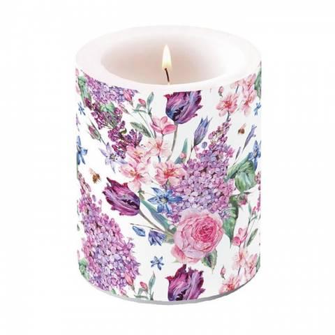 Bilde av Vakkert Kubbelys Blomstersamling 12cm