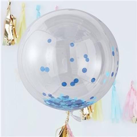 Bilde av Konfetti Store Ballonger Pick & Mix Pastel Blå  90cm Orb 3stk