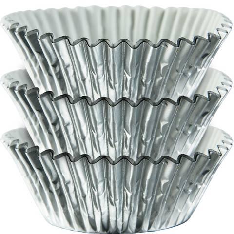Bilde av Muffinsformer Sølv 24stk