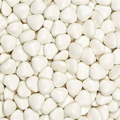 Bilde av Sjokolade Drasjert Hvite Hjerter 1kg