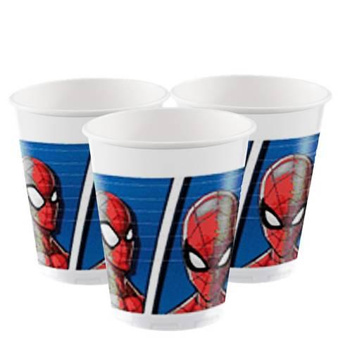 Bilde av Spiderman Team Up Plastkopper200ml 8stk