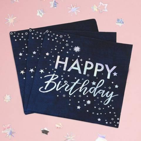 Bilde av Servietter Happy Birthday Lunsj 16stk