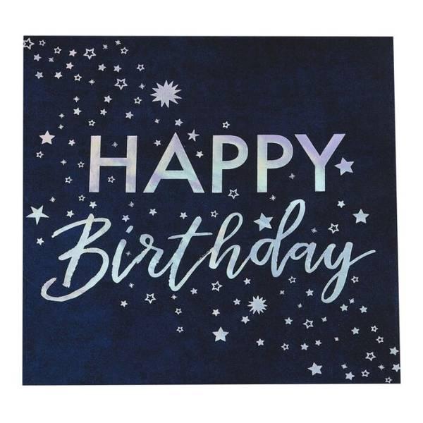 Servietter Happy Birthday Lunsj 16stk
