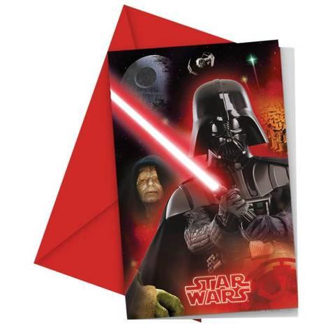 Bilde av Star Wars Invitasjoner & Konvolutter 6stk