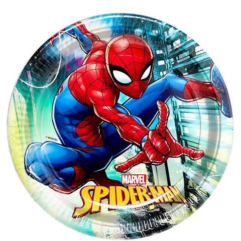 Bilde av Spiderman Team Up Papptallerkner 23cm 8stk