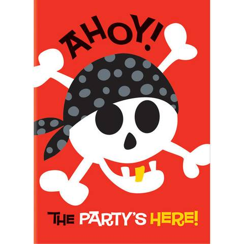 Bilde av Pirater Invitasjonskort 8stk