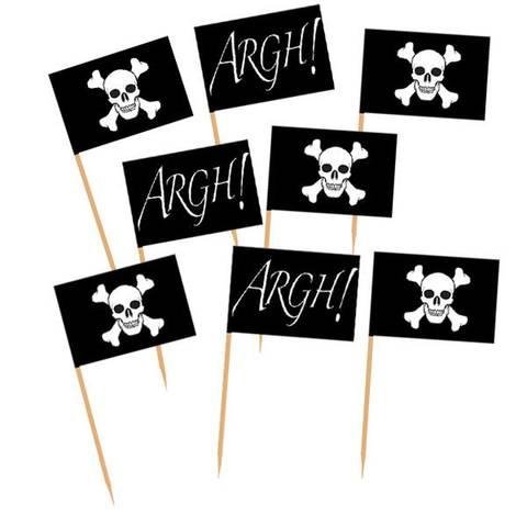 Bilde av Pirater Flagg Picks 50stk
