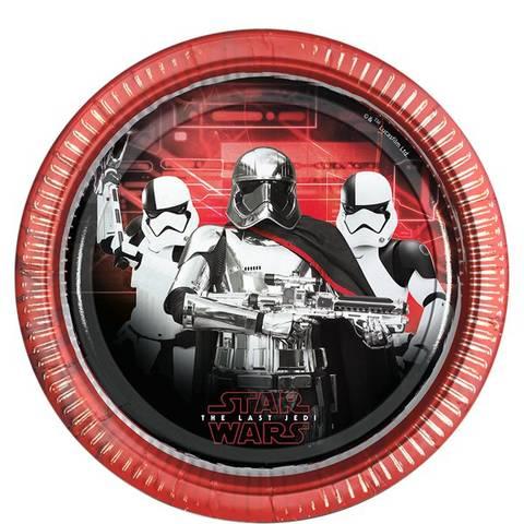 Bilde av Star Wars The Last Jedi Papptallerkner 23cm 8stk