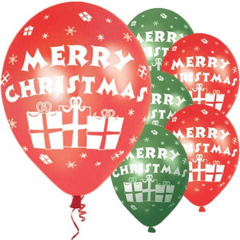 Bilde av  Ballonger Merry Christmas  Latex  27cm 6stk