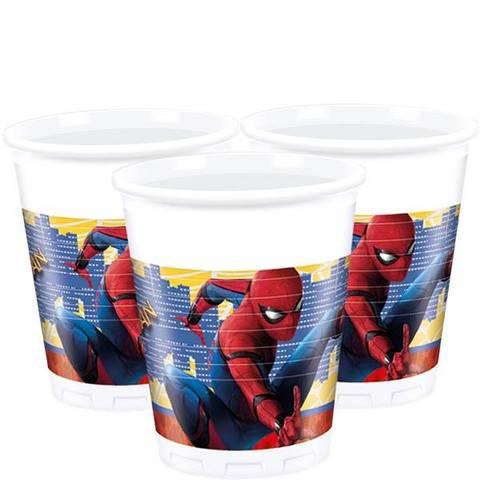 Bilde av Spiderman Homecoming Plastkopper 8stk