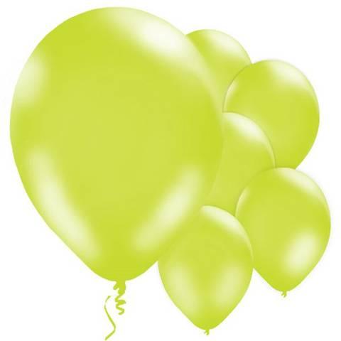 Bilde av Ballonger Lime Grønne Metallic Lateks 28cm 10stk