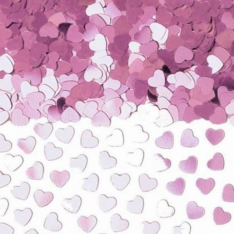 Bilde av Rosa Blinkende Hjerte Metall Konfetti