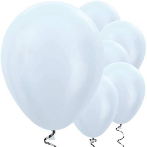 Bilde av Ballonger Satin Hvite Perle Lateks 30cm 25stk