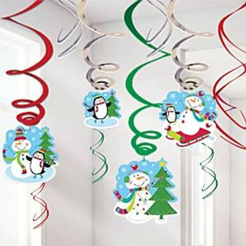 Bilde av Julepynt Snømann Hengende Dekorasjon