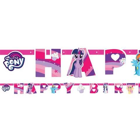 Bilde av My Little Pony Happy Birthday Bokstav Banner