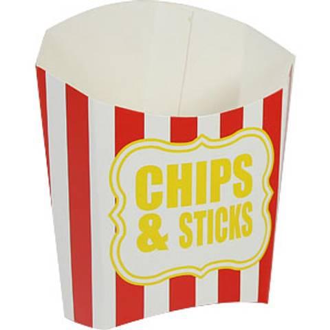 Bilde av Chips Beger Rød Stripet 1stk